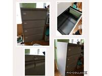 Large filing cabinet with side filing.