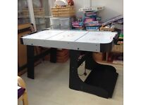 Electric air hockey table. Foldaway. Very good condition.