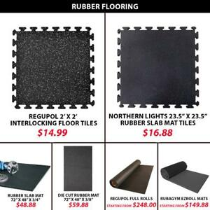 Mats Cut Equipment Cardio Cross Fitness Full RubaGym EZ Roll Cross Training Interlocking Mat Floor Strength Rubber Floor