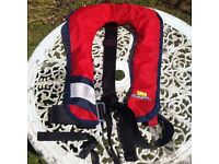 XM quick fit Junior life jackets - auto gas inflation