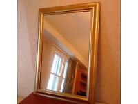 WALL MIRROW - Nice Golden Bronze-Coloured Frame