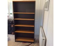 bookcase,five shelves,four adjustable 180cm x 90cm x 31cm.Solid,very good condition.buyer collect