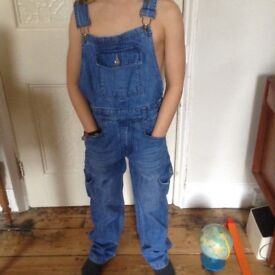 Denim boy or girl dungarees VGC