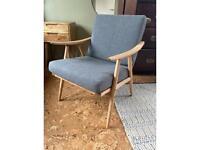 2 x refurbished mid-century chairs