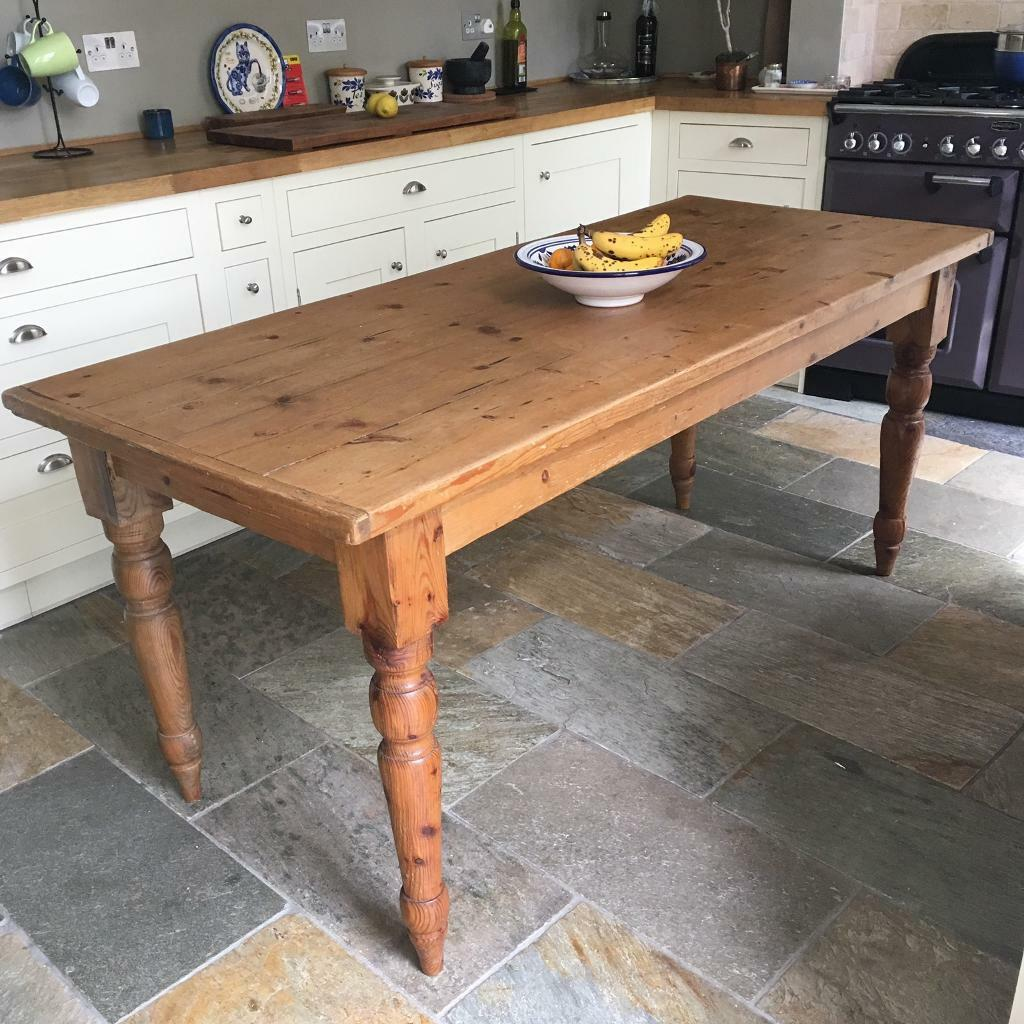 Kitchen Bench Gumtree: Rustic Vintage Kitchen Dining Table Country Pine *REDUCED