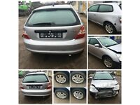 Honda Civic 2004 1.6 Silver 2 Door for Parts all Parts available