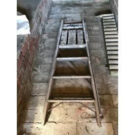 Short wooden ladder