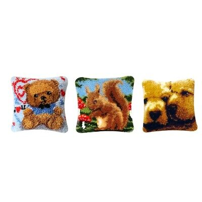 1 Set DIY Latch Hook Rug Kit Embroidery Animals Pattern Crafts for Adults 1 Latch Hook Rug Hooking