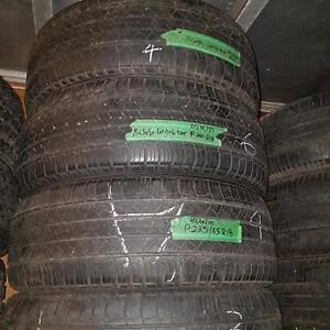 Set of four 235 55 18 tires for sale