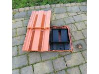 Plastic vented roof tiles