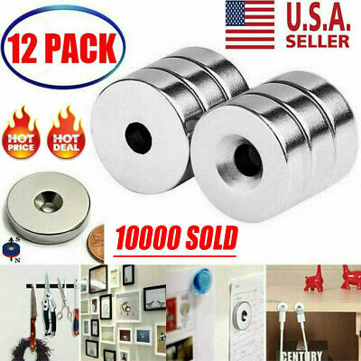 612pcs 34 X 14 Inch Neodymium Rare Earth Countersunk Ring Magnets N52 Usa