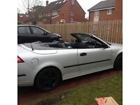 2004 Saab 93 convertible 2.0t met silver , private plate , Alloys , tints , leathers , 120k fsh mot