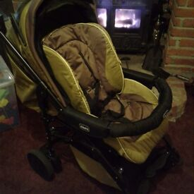 Chicio pushchair with car seat,,