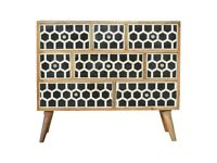 Chest Of Drawers With Bone Inlay Solid Wood Brand New - FREE DELIVERY UK