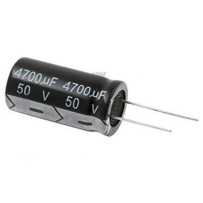 5pcs 4700uf 50v 4700mfd 50volt Aluminum Electrolytic Capacitor 18mm35mm Radial