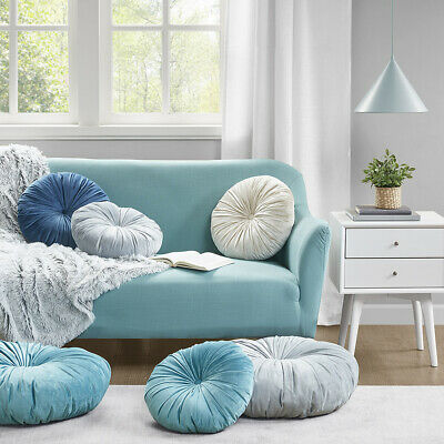 afina poly velvet round cushion pillow