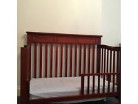 Baby cot that converts to toddler bed