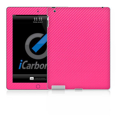 iPad Skin (2nd & 3rd Gen) - Pink Carbon Fibre skin by iCarbons Ipad 2 Carbon