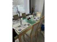 Dining room suit , and display table to match