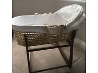 Excellent conduit Moses basket with stand