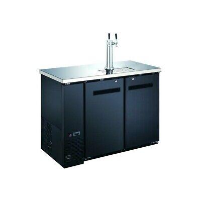 Peakcold 48 2-door Beer Dispenser - Kegerator Double Tap Keg Cooler