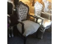 French style chair in grey