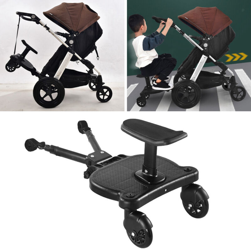 Universal Mount Ride-On Stroller Board Toddler Bump-Free Anti-Slip Buggy Stand,