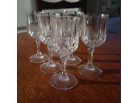 Six Port or Liqueur Glasses