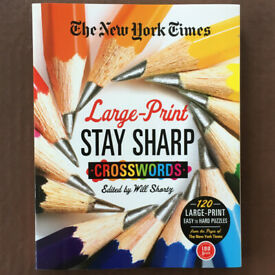 The New York Times large print Stay Sharp Crosswords book. Will Shortz. £5 ovno. Can post.