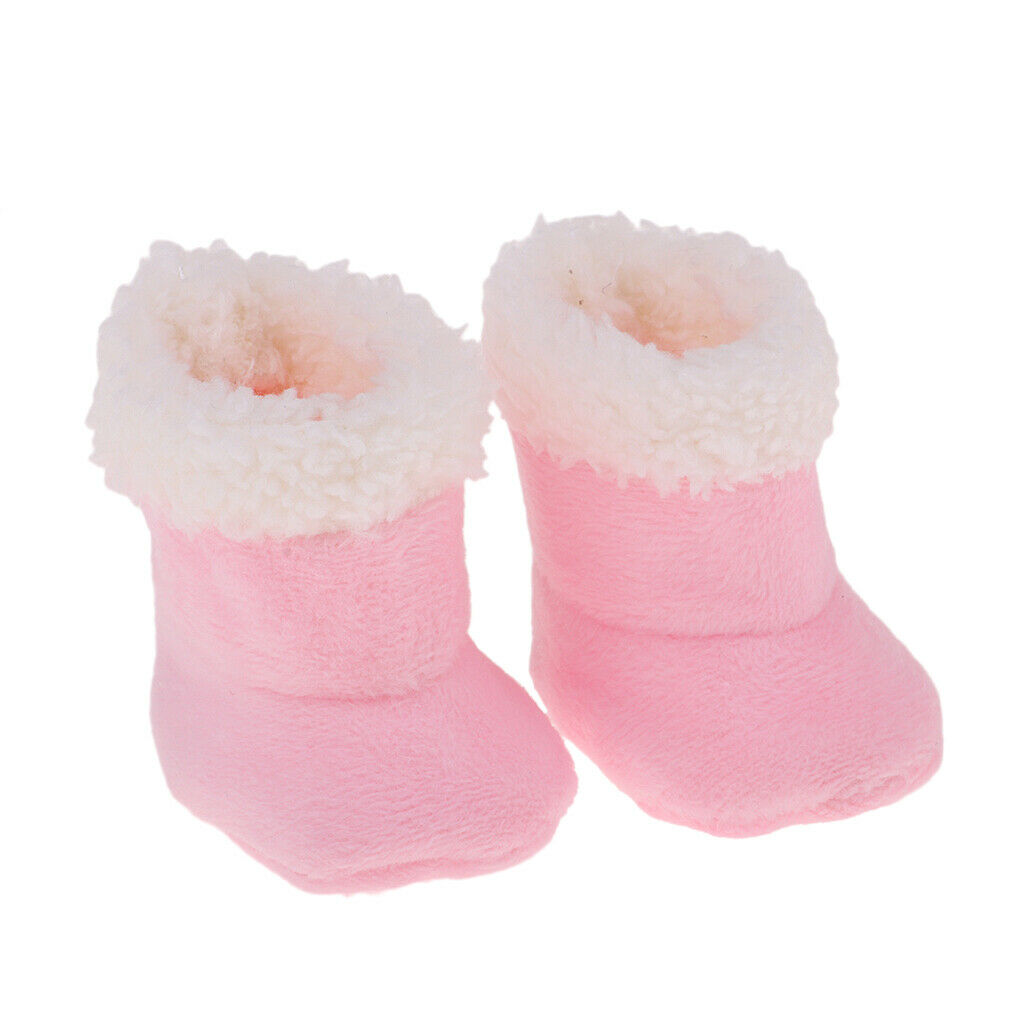 Pink Plush Shoes Boots for Mellchan Baby Doll 9-11inch Girl Doll Snow Boots 1