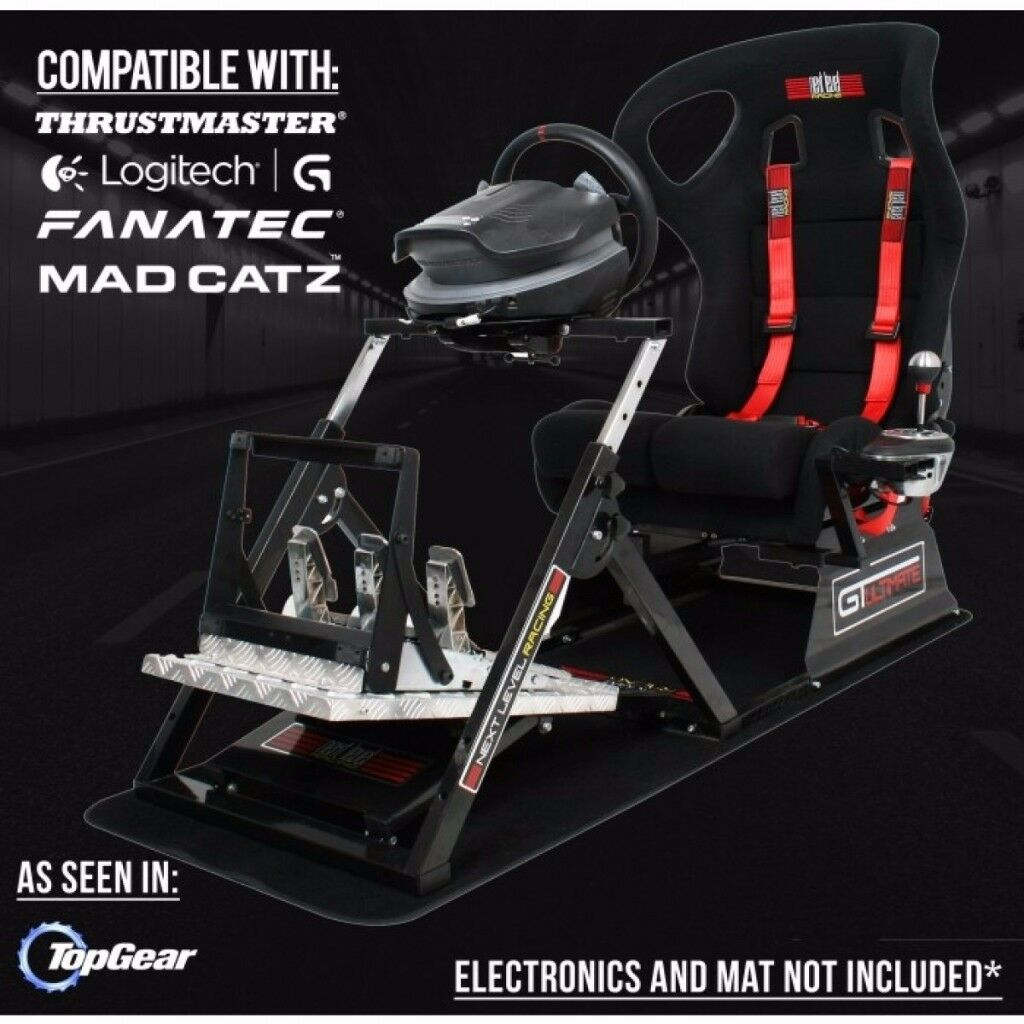 GTULTIMATE V2 Racing Simulator Cockpit Gaming Chair Logitech