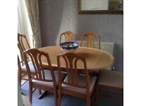 Dining Table and Six Chair for sale