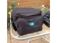 Oxford Motorcycle Pannier with rain cover.