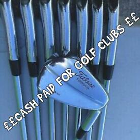 GOLF CLUBS , IRONS , WOODS, PUTTERS , FULL SETS , BAGS