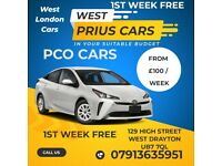 London PCO CAR RENT / Private HIRE * TOYOTA PRIUS UBER FREENOW BOLT OLA [ WEST LONDON OFFICE ]