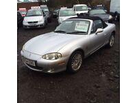 2004 54 MAZDA MX5 1.8 12 MONTHS MOT FUN LITTLE CAR LOW MILEAGE £1295