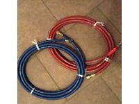 Set gas welding burning hoses