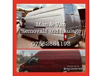Removals and haulage man with vans/trailers