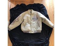 Raw Blue Avirex Style DMX Hip Hop Jacket Size XL