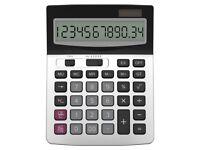 NEW: Calculator, Helect Business Standard Function Desktop Calculator - Silver