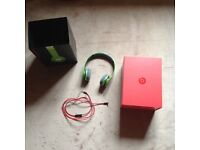 Pristine Condition - Beats by Dr Dre Solo HD - green with all accessories, books, and box