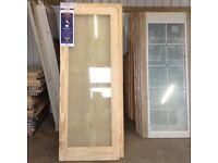 Quality glazed pine doors.