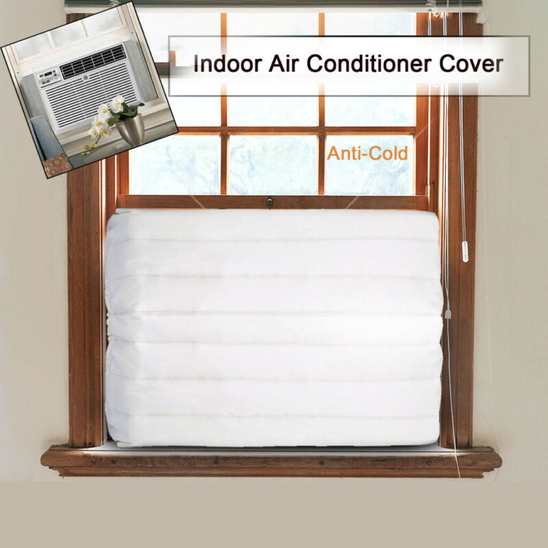 Window Indoor Air Conditioner Cover Canvas Waterproof Access