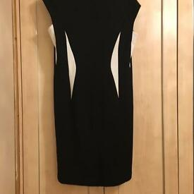 Beautiful Roman Black Dress S16 As new