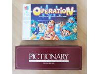 *** BRAND NEW BOARD GAMES - OPERATION & PICTIONARY *** CHEAP, UNWANTED GIFT