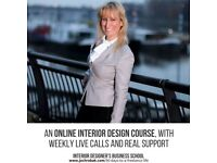 Online interior design course with weekly live calls