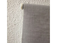Grey Linen Look Roller Blind