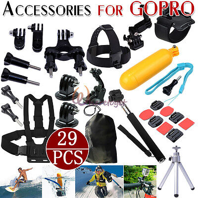Sport 28PCS Camera Accessories Set Floating Grip Mounts f. GoPro Hero 2 3 3+ 4 5