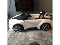 Kids battery powered bmw i8 car