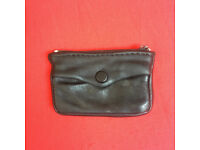 Vintage black leather coin/key purse. Happy to post.